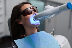 teeth whitening with light