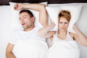 Sleep Apnea Snoring Couple